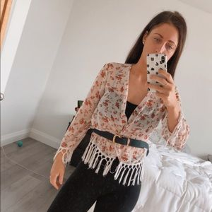 Guess Sheer Floral Cover Up